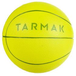 K100 Vert. Mini ballon de basketball enfant en mousse taille 1 jusqu'a 4 ans.