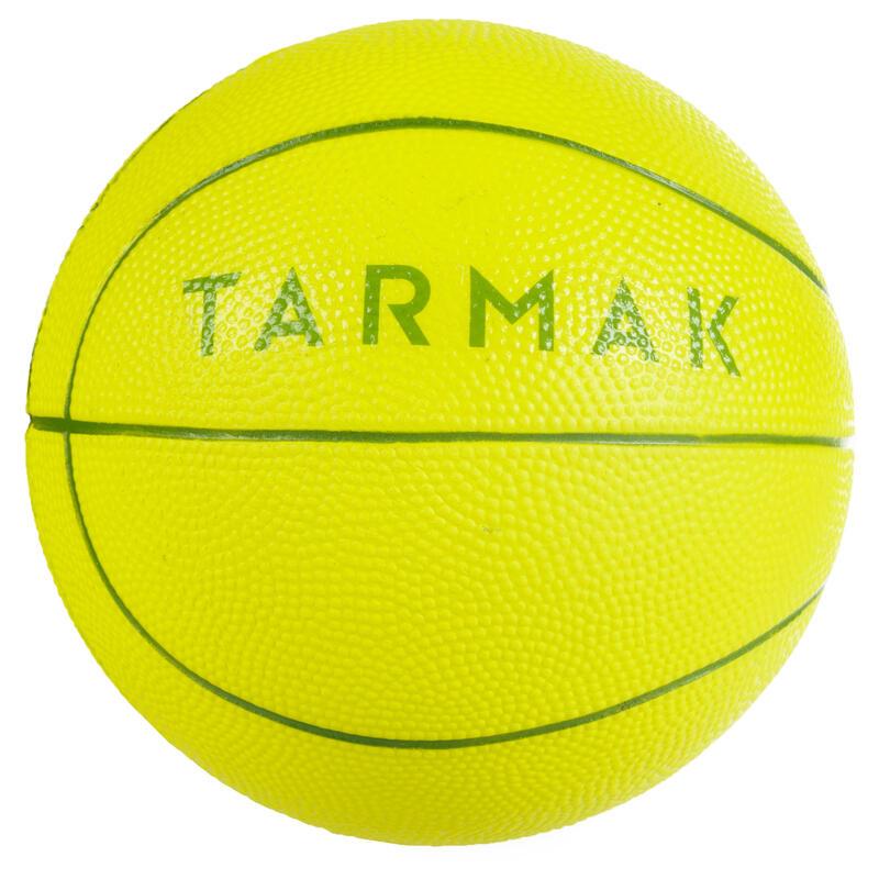 Basketbal K100 groen. Minibal in schuim, maat 1, voor kinderen tot 4 jaar.