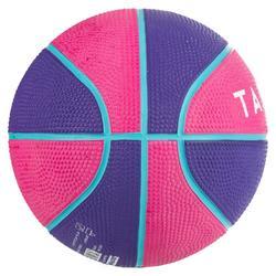 Minibasketbal Mini B maat 1 voor kinderen. Tot 4 jaar. Roze