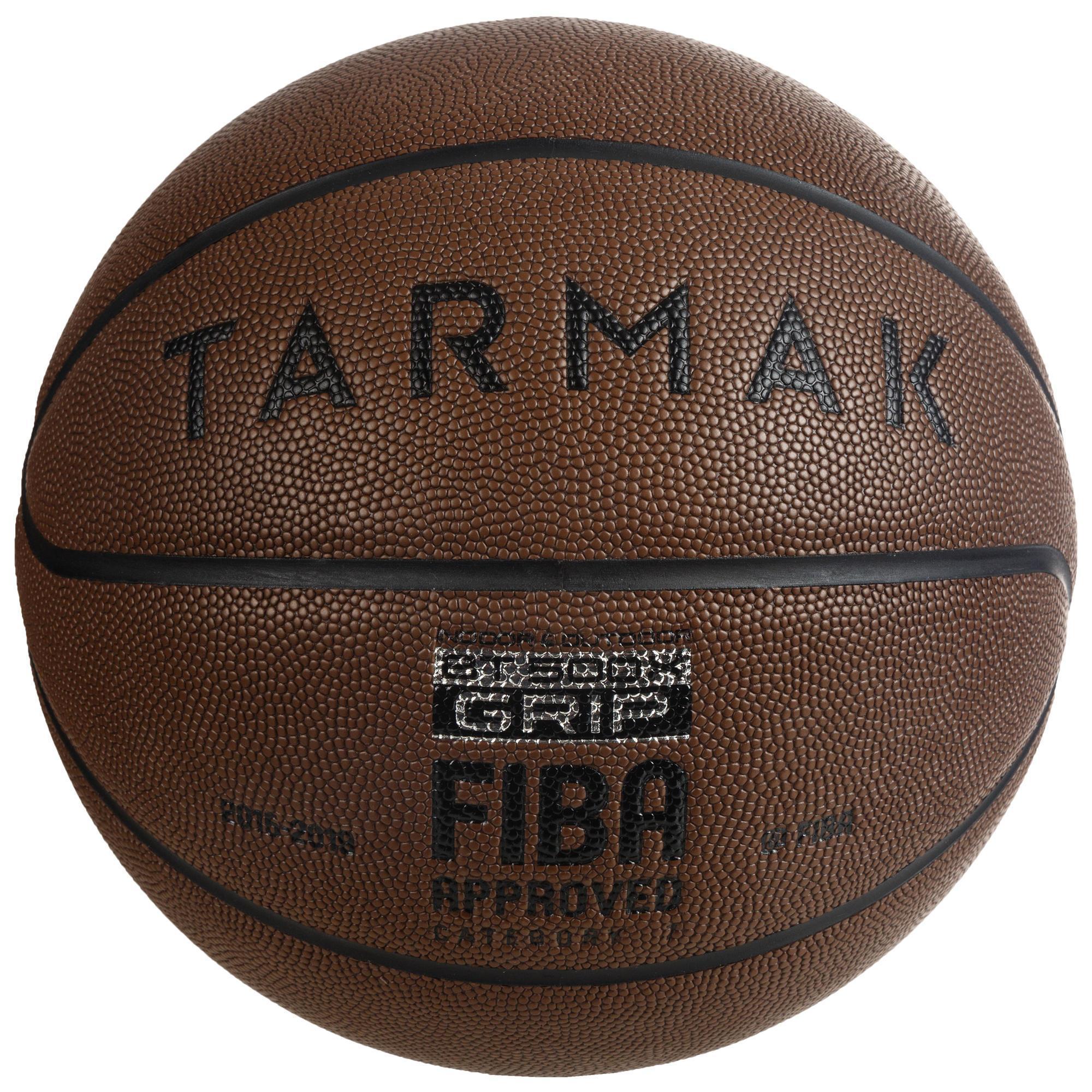 Basketball BT500 Größe 7 Grip Erwachsene braun Super Ballgefühl