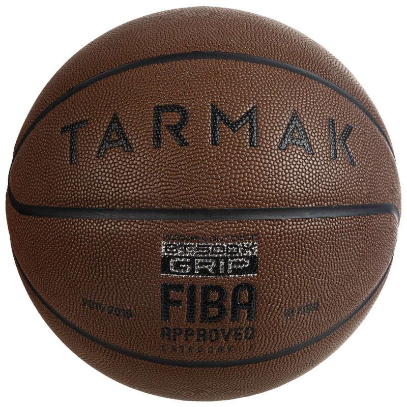 BASKETBOLLAR Lagsport - Boll BT500 GRIP stl. 7 brun TARMAK - Basket