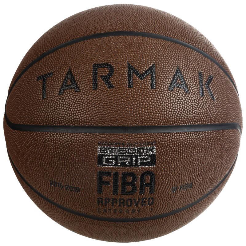 BASKETBALOVÉ MÍČE Basketbal - MÍČ BT500 GRIP VEL. 7 HNĚDÝ TARMAK - Basketbalové míče