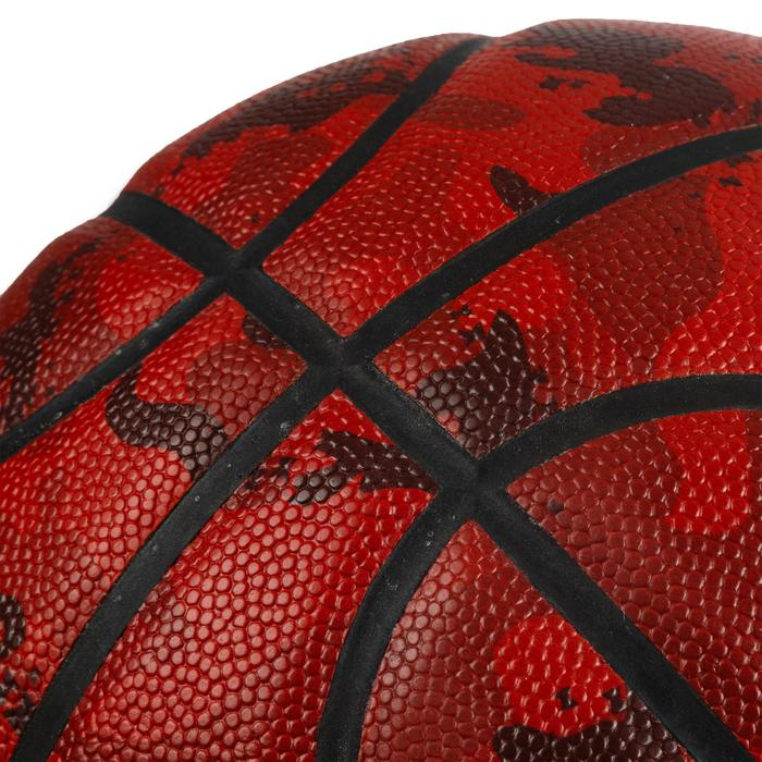 Ballon de basket BT500 T7 Camo Bordeaux