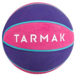 Mini-Basketball Kinder Mini B Größe 1. Für Kinder bis 4 Jahren.Rose