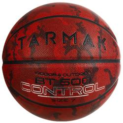 Basketball BT500 Größe 7 camouflage/bordeaux