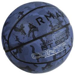 Size 7 Basketball BT500 - Camo/Blue