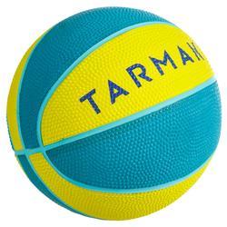 Minibasketbal Mini B maat 1 voor kinderen. Tot 4 jaar. Groen