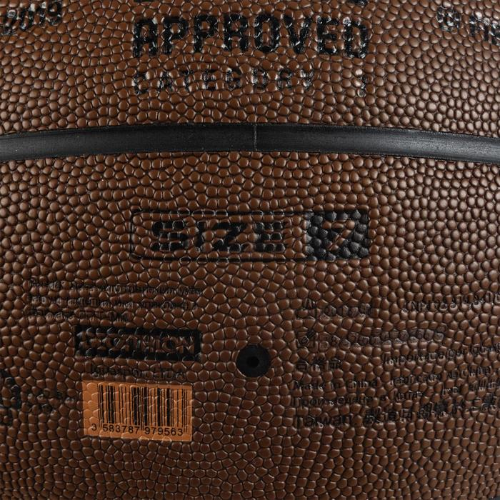 Ballon de Basket Adulte BT500 Grip Taille 7 - Marron Excellent Toucher de Balle