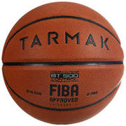 Boys'/Men's Size 7 (from 13 Years) Basketball BT500 - Brown/Fiba.