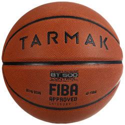 Basketbal voor heren en jongens vanaf 13 jaar BT500 maat 7 bruin FIBA.