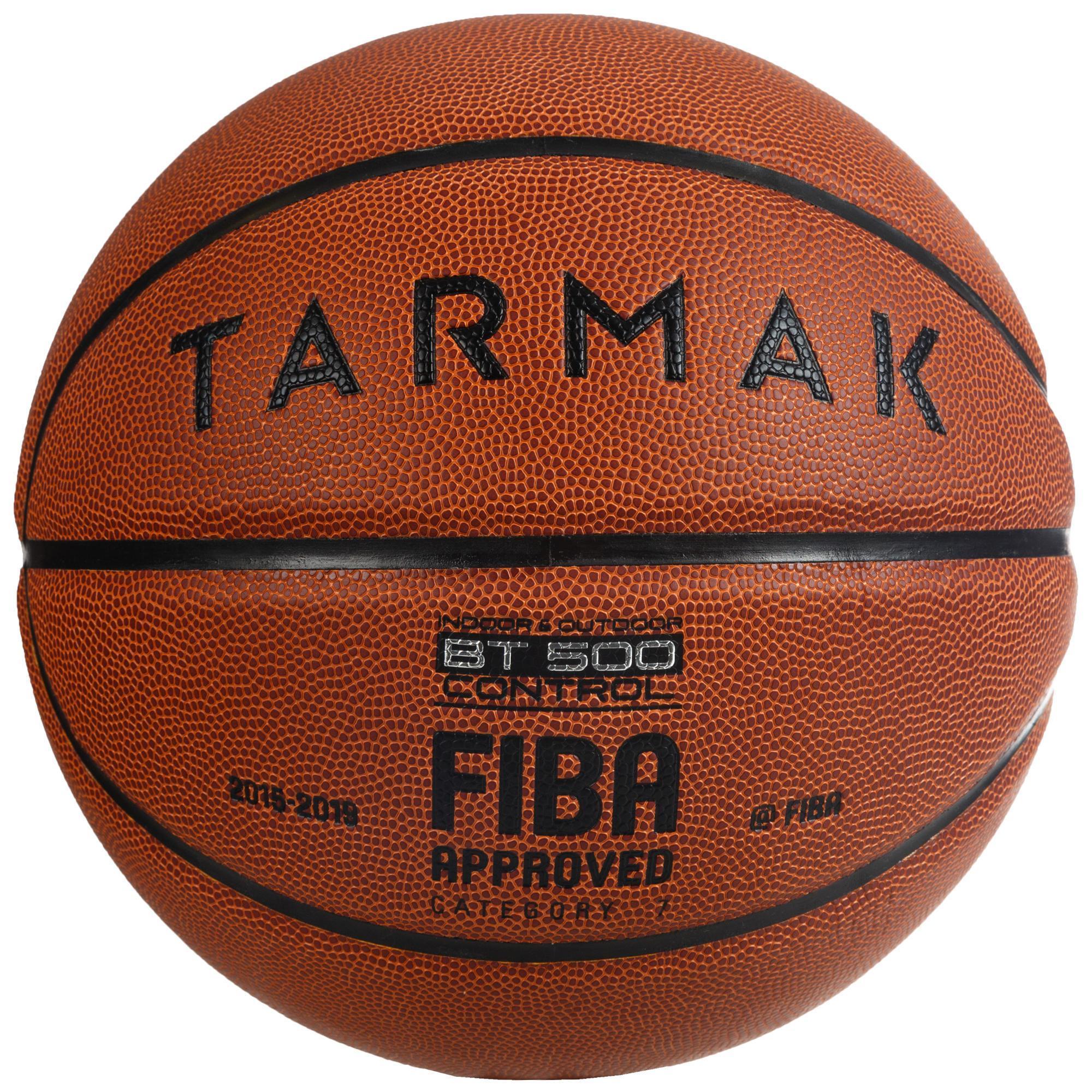 Basketball BT500 FIBA Größe 7 braun