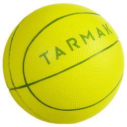 K100 groen. Mini basketbal voor kinderen foam maat 1. Tot 4 jaar.