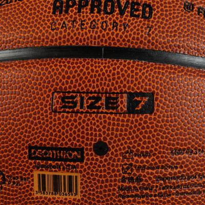 Ballon de basket BT500 taille 7 Marron Fiba