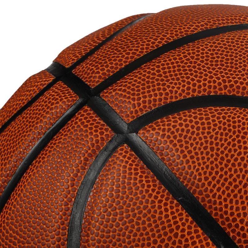 Size 7 Basketball BT500 - Brown/FIBA