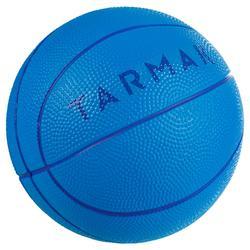 K100 blauw. Minibasketbal in schuimstof voor kinderen maat 1. Tot 4 jaar.