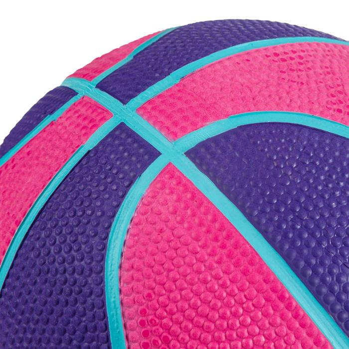 Mini ballon de basketball enfant Mini B taille 1. Jusqu'à 4 ans. Rose