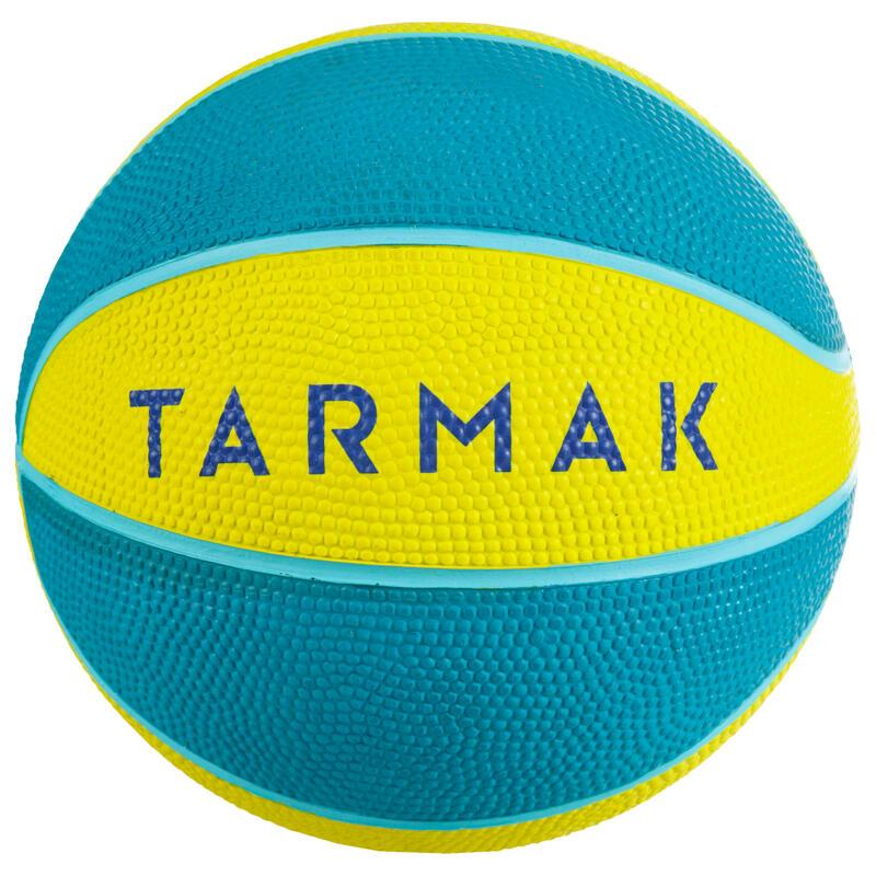 Mini Basketbol Topu - 1 Numara - Sarı / Turkuaz - K100