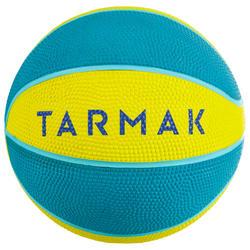 Mini Balón Baloncesto Tarmak K100 Caucho Talla 1 Amarillo Azul