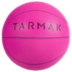 K100 Rose. Mini ballon de basketball enfant en mousse taille 1. Jusqu'à 4 ans.