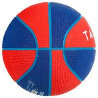 Mini ballon de basketball enfant Mini B taille 1. Jusqu'à 4 ans.Rouge
