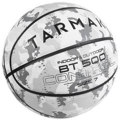 Ballon de basket BT500 T7 Camo Blanc