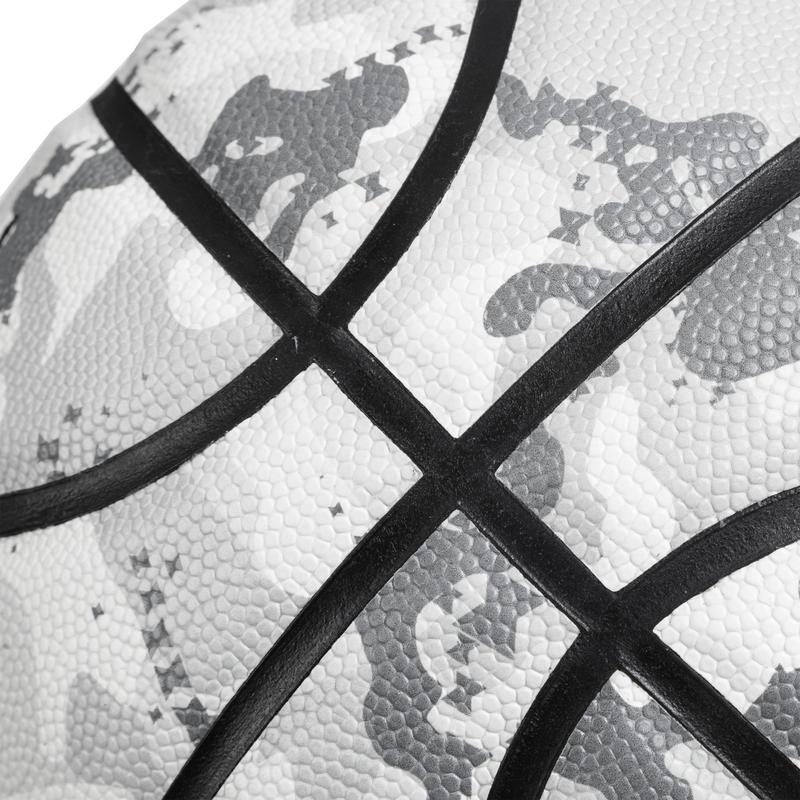 Balón Basketball Tarmak BT500 Talla 7 Camuflaje Blanco