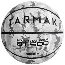 Basketbal BT500 maat 6 camouflage wit