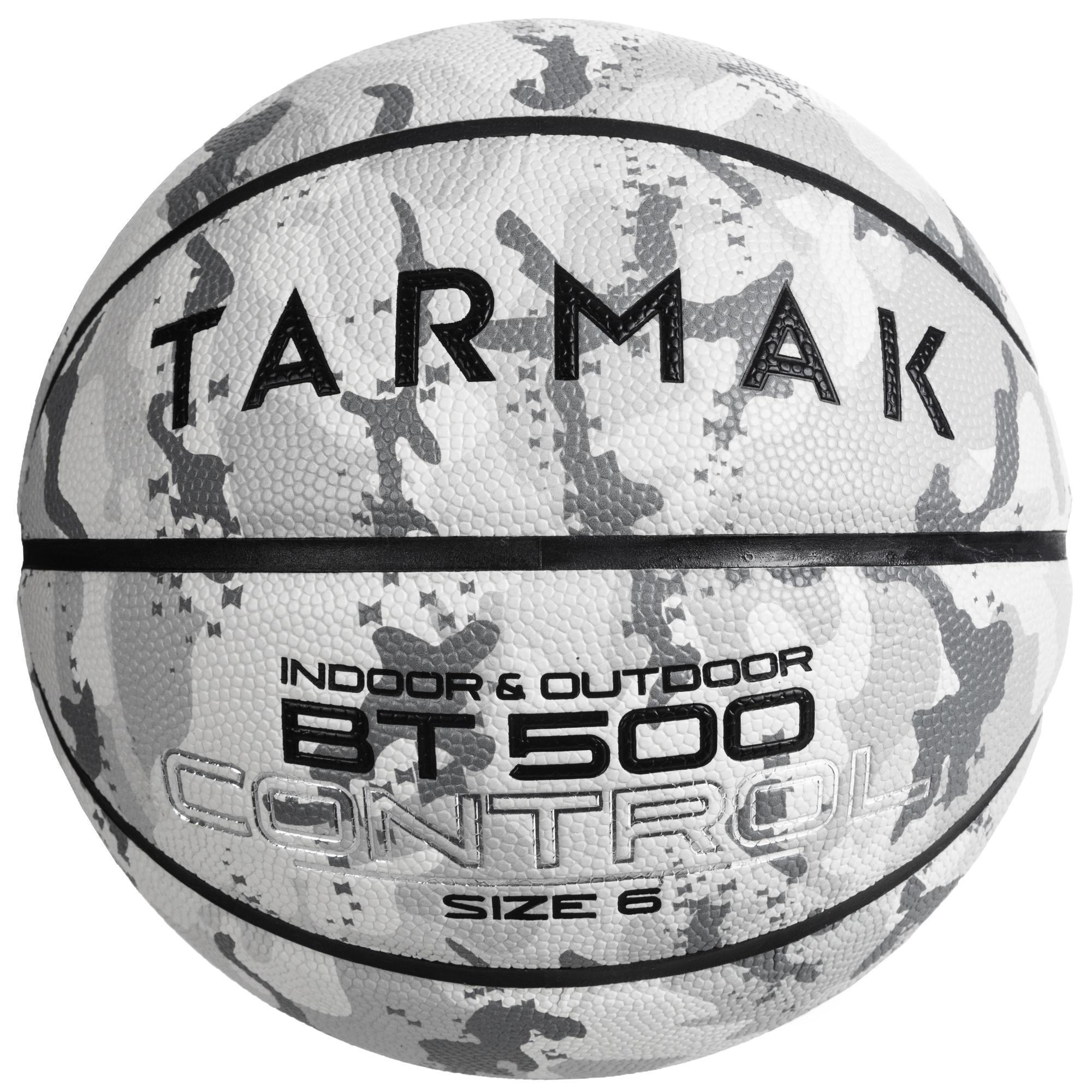 Basketball BT500 Größe 6 Outdoor camouflage/weiß