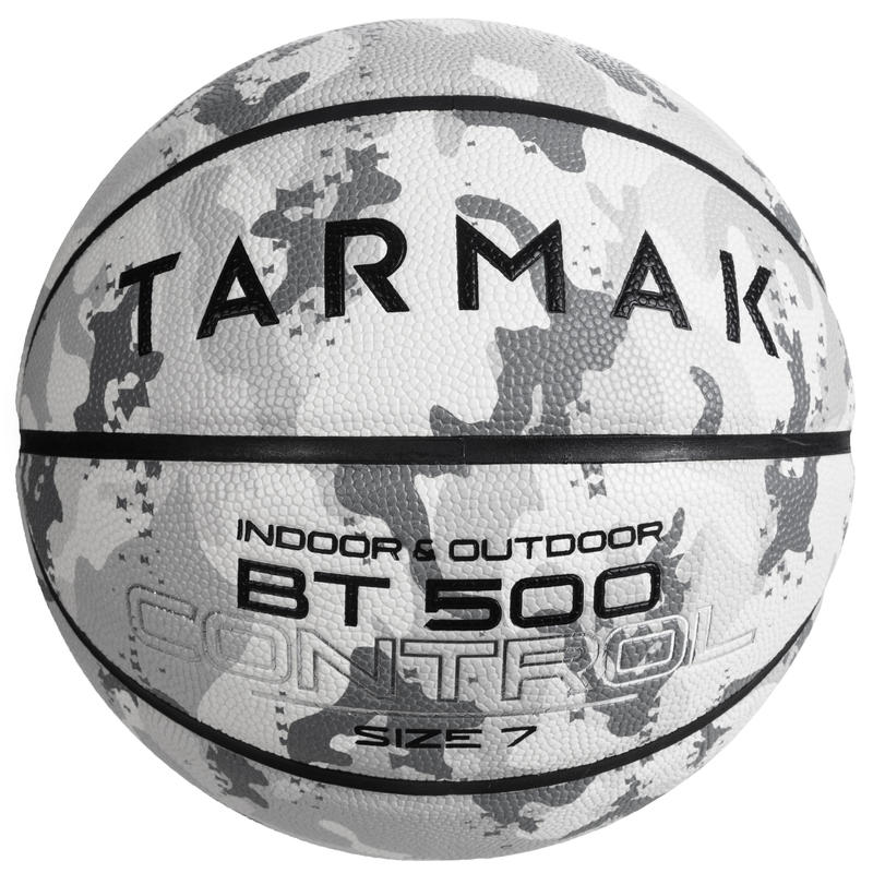 Boys'/Men's (from 13 Years) Size 7 Basketball BT500 - Camo/White.