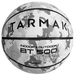 Balón Baloncesto Tarmak BT500 Talla 7 Camuflaje Blanco