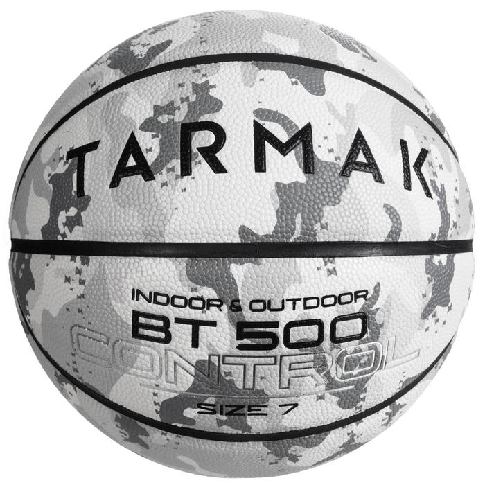 Basketbal BT500 camouflage/wit (maat 7)