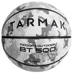 Size 7 Basketball BT500 - Camo/White