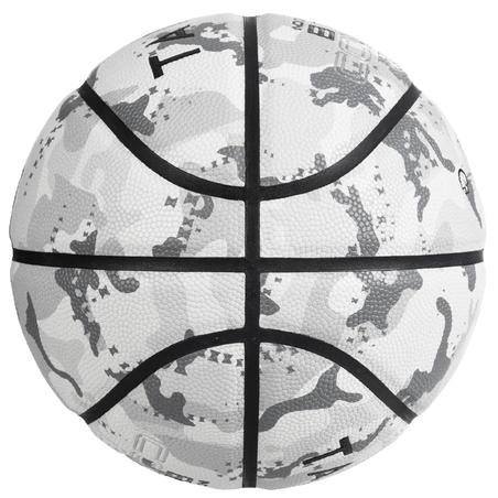 Bola Basket Ukuran 7 BT500 - Camo/Putih