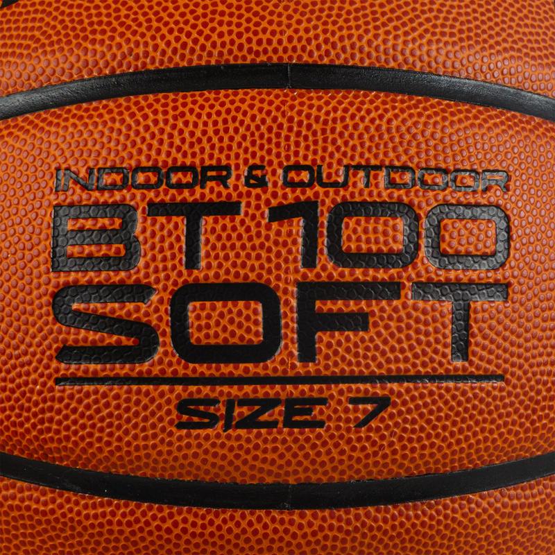 Balón de basketball BT100 de talla 7 naranja para niños desde 13 años