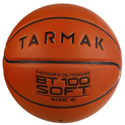 Basketball BT100 Größe 6 Kinder und Damen orange