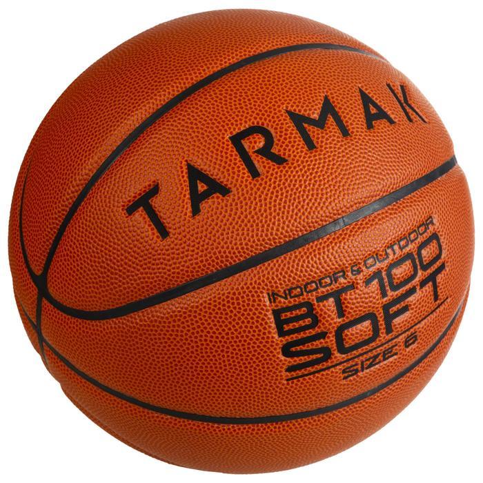 Basketball BT100 Gr.6 Kinder orange Mädchen ab 11 Jahren und Jungen U13
