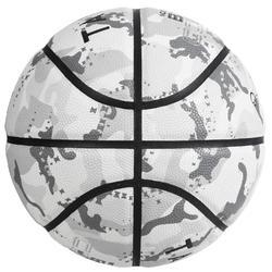 Basketball BT500 Größe6 Outdoor camouflage/weiß