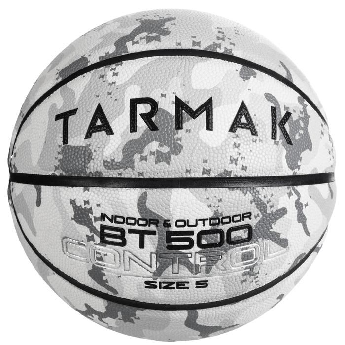 Ballon de basket enfant BT500 taille 5 Camo Blanc. Super toucher de balle