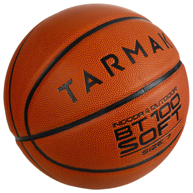 Size 7 Basketball BT100 for Men Ages 13 and Up - Orange