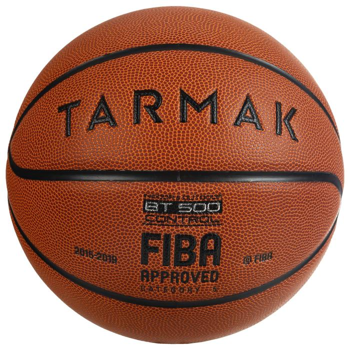 Balón de baloncesto júnior BT500 talla 5 naranja. Tacto de balón excelente