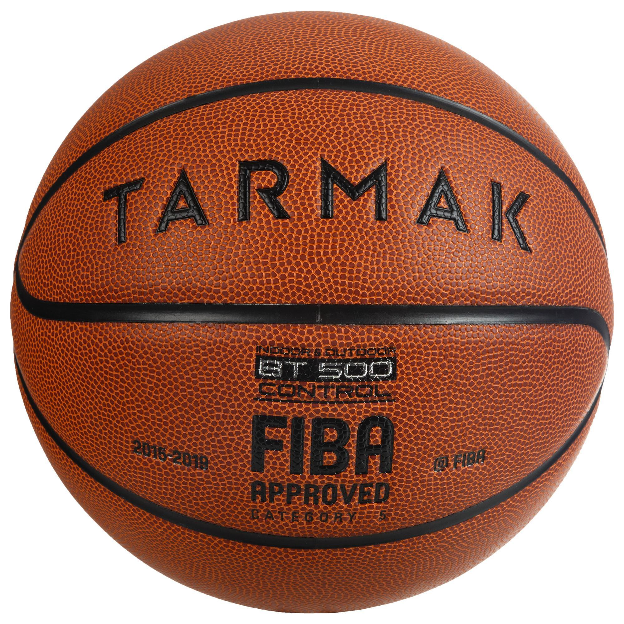 Basketball BT500 Größe 5 Kinder orange Super Ballgefühl