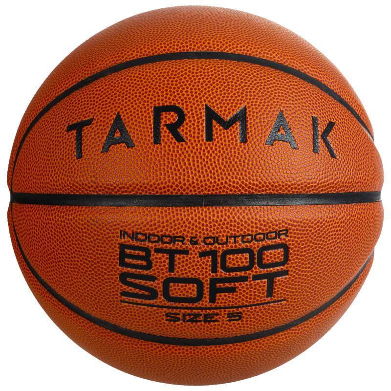 Balón básquetbol BT100 talla 5 naranja para niños hasta 10 años, para iniciarse.