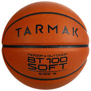 BT100 Kids' Size 5 Beginner Basketball, Under Age 10 - Orange