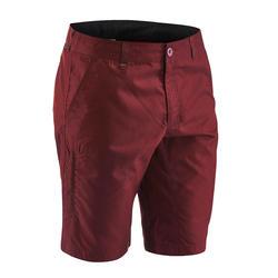 Pantalón Corto Bermuda Montaña y Senderismo Quechua NH500 Hombre Rojo