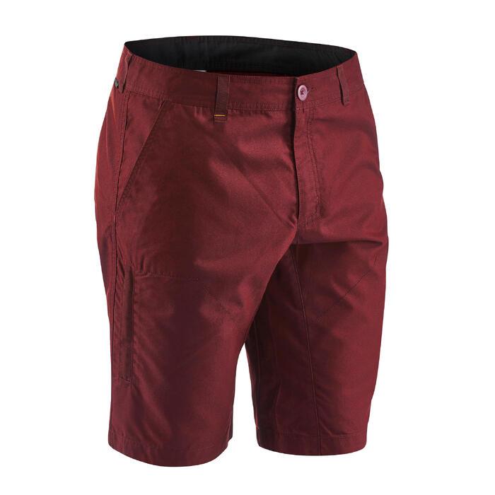 Pantalón Corto de Montaña y Senderismo Naturaleza Quechua NH500 Hombre Rojo