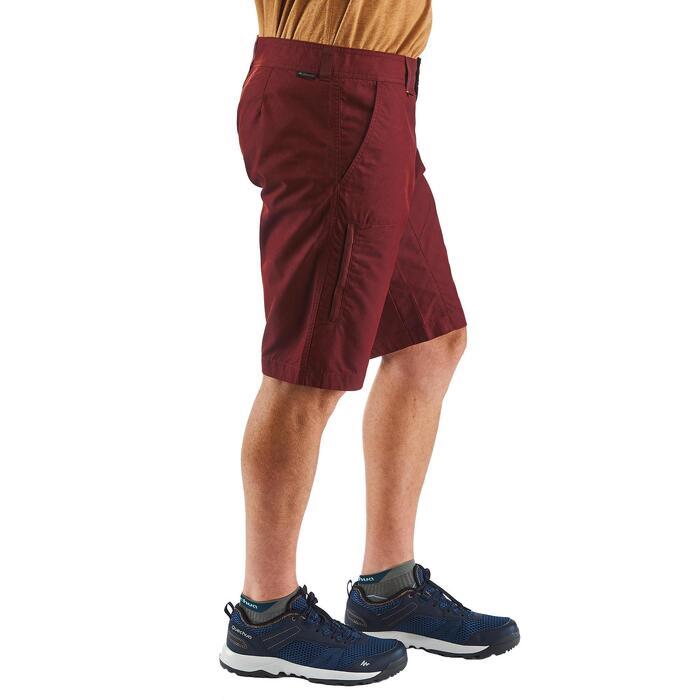 Pantalón corto senderismo naturaleza NH500 chocolate hombre
