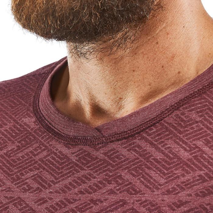 Tee shirt randonnée nature NH500 fresh bordeaux homme