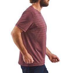 T-shirt wandelen in de natuur NH500 Fresh bordeaux heren