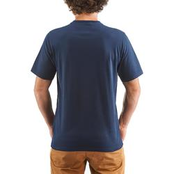 T-shirt voor natuurwandelen en hiking NH500 marineblauw heren