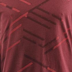 Tee shirt randonnée nature NH500 chocolat homme